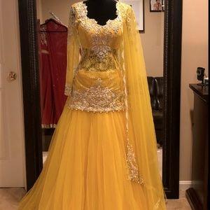 5c882d6f1b Naina Tara Dresses   Yellow Kurti Lehenga Indian Kurti Pakistani ...